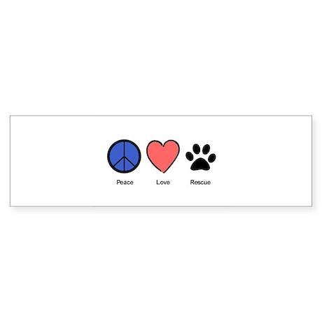 peaceloverescueshirtedit Bumper Sticker
