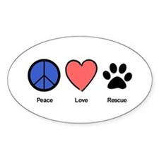 peaceloverescueshirtedit Decal