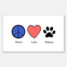 peaceloverescueshirtedit Decal
