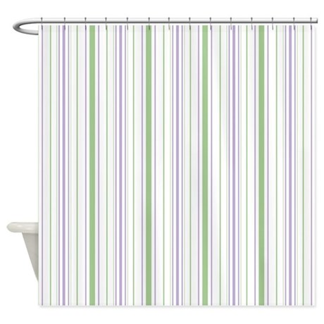 Amara Stripe Lavender Shower Curtain by floatinglemons
