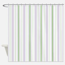 Amara Stripe Lavender Shower Curtain