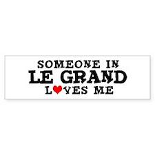 Le Grand: Loves Me Bumper Bumper Sticker