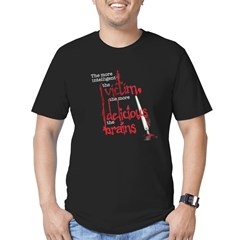 brain-2.png Men's Fitted T-Shirt (dark)