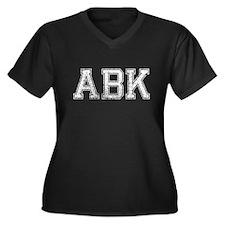 ABK, Vintage, Women's Plus Size V-Neck Dark T-Shir