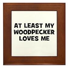 At Least My Woodpecker Loves  Framed Tile