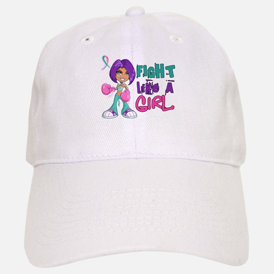 Licensed Fight Like a Girl 42.8 Thyroid Cancer Cap