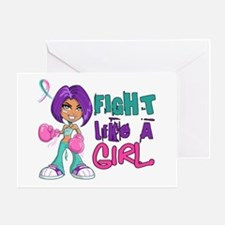 Licensed Fight Like a Girl 42.8 Thyr Greeting Card