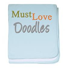 MUST LOVE Doodles baby blanket
