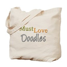 MUST LOVE Doodles Tote Bag