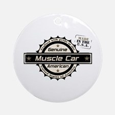 Genuine American Muscle Car Ornament (Round)