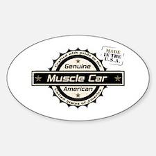 Genuine American Muscle Car Sticker (Oval)