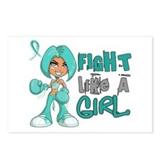 Fight Like a Girl 42.8 PKD Postcards (Package of 8