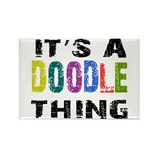 Doodle THING Rectangle Magnet