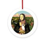 Mona Lisa - Basenji Ornament (Round)