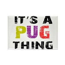 Pug THING Rectangle Magnet