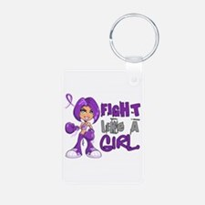 Fight Like a Girl 42.8 Sarcoidosis Keychains