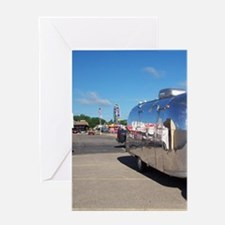 Carnival Road Trip Reflection Camper Greeting Card