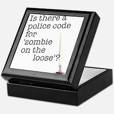 zombie on the loose Keepsake Box