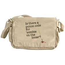 zombie on the loose Messenger Bag