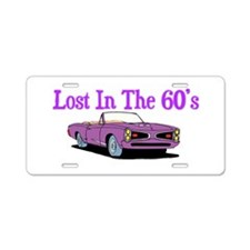 Lost In The 60's Aluminum License Plate
