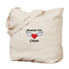 Muscle Car Chick Tote Bag