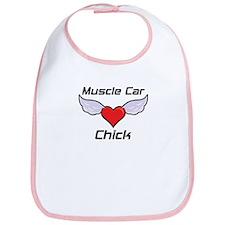 Muscle Car Chick Bib