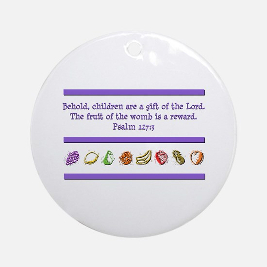 Psalm 127:3 Ornament (Round)