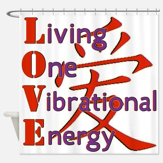 Living One Vibrational Energy Shower Curtain
