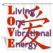 Living, One,Vibrational,Energy Shower Curtain