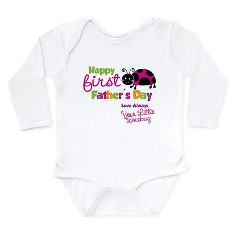 Ladybug 1st Fathers Day Long Sleeve Infant Bodysui