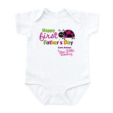 Ladybug 1st Fathers Day Infant Bodysuit