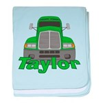 Trucker Taylor baby blanket