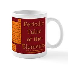 Periodic Table - Maroon/Orange Small Mug