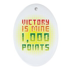 Victory is mine Ornament (Oval)