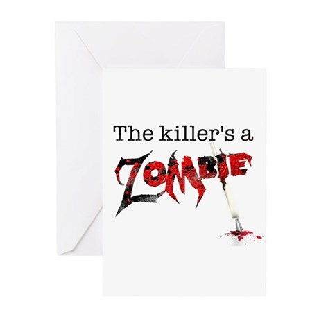 The killers a zombie Greeting Cards (Pk of 20)