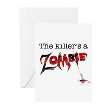 The killers a zombie Greeting Cards (Pk of 10)
