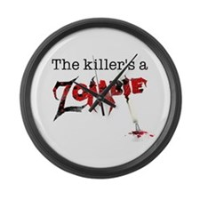 The killers a zombie Large Wall Clock