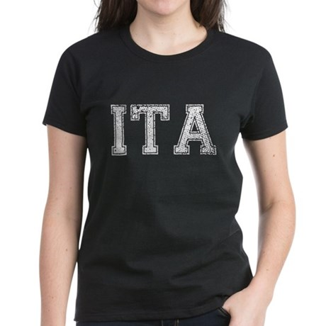 ITA, Vintage, Women's Dark T-Shirt