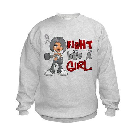Licensed Fight Like a Girl 42.8 Pa Kids Sweatshirt