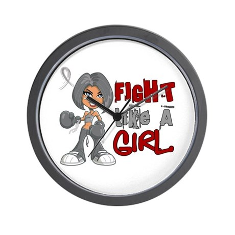 Licensed Fight Like a Girl 42.8 Parkins Wall Clock