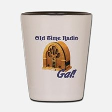 Old Time Radio Gal Shot Glass