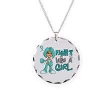 Fight Like a Girl 42.8 Ovarian Cancer Necklace