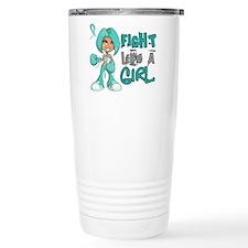 Fight Like a Girl 42.8 Ovarian Cancer Travel Mug