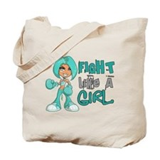 Licensed Fight Like A Girl 42.8 Ovarian C Tote Bag
