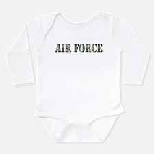 Air Force Camo Long Sleeve Infant Bodysuit