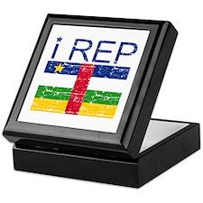 I Rep Central African Keepsake Box