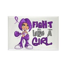 Fight Like a Girl 42.8 Lupus Rectangle Magnet