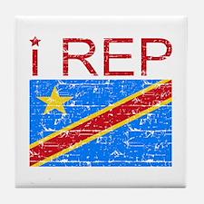 I Rep Democratic Republican Tile Coaster