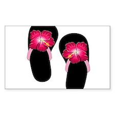 Pink Hibiscus Flip Flops.png Decal