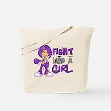 Licensed Fight Like a Girl 42.8 Leiomyosa Tote Bag